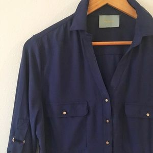 Navy Blue & Good Blouse